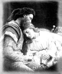 Julia Margaret Cameron.  Parting of Launcelot  and Guinevere, in  Alfred Tennyson's Idylls of  the King and other Poems  1875. [(GA) GA131]
