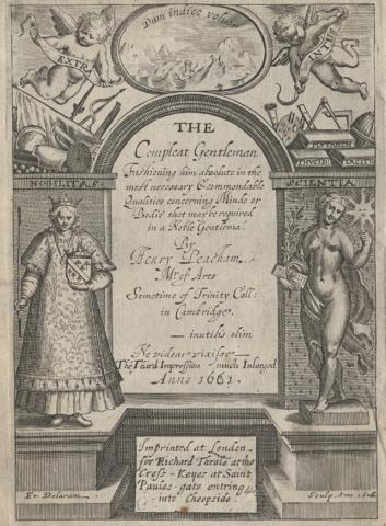 Henry Peacham. Compleat Gentleman. 1661