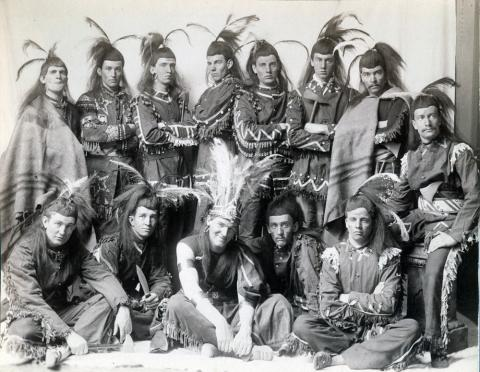 "Some of the cast of ""Po-ca-hon-tas,"" 1891. Triangle Club Records (AC122), Box 93."