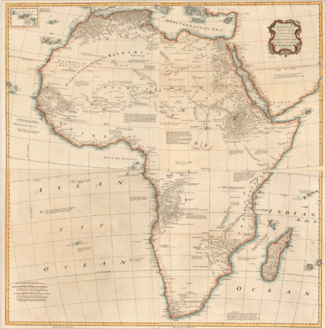 Atlas Mountains Africa Map.To The Mountains Of The Moon Mapping African Exploration