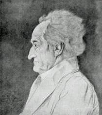 Goethe by J. L. Sebbers,  1826. Gift of  G. A. Armour, Class of 1877.