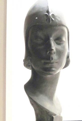 Gerome Brush (1888-1954), St. Joan, 1915. Bronze. Signed and dated in the base. Cast at A. Kunst Fondry, New York. Graphic Arts Collection Museum Objects