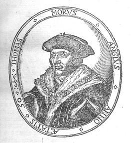 Portrait of Sir Thomas More, 1478–1535. From his A Dialogve of Cumfort against Tribulation . . . (Antwerp: apud Iohannem Foulerum, Anglum, 1573) [Rare Books Division].