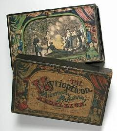 Myriopticon: A Historical Panorama  of the Rebellion.  Issued by Milton Bradley, after 1865  Copies: CTSN (Toys 20604, 20876);  Graphic Arts (GA 2005.01038)