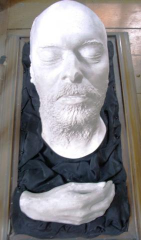 Death mask of Dante Gabriel Rossetti (1828-1882), from the original by Domenico Brucciani (1815/18-1880) in possession of W. M. Rossetti. Previously owned by Janet Camp Troxell. Referenced in Princeton University Library Chronicle vol. 33, no. 3, p. 173