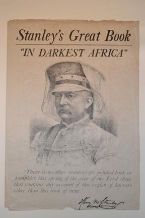 Stanley's great book, In darkest Africa [prospectus] New York : Charles Scribner's Sons, [1890]. Ex Oversize 2011-0021F