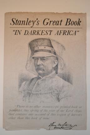 Stanley's great book, In darkest Africa [prospectus] New York : Charles Scribner's Sons, [1890]. Ex Oversize 2011-0021F