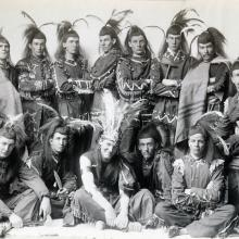 "Some of the cast of ""Po-ca-hon-tas,"" 1891. Triangle Club Records (AC122), Box 93."