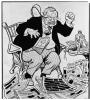 Louis M. Glackens, American, 1866–1933 Cartoon of Teddy Roosevelt, 1910 Pen and black ink on off-white board 40.8 x 33.1 cm. (16 1/16 x 13 1/16 in.) Gift of Frank Jewett Mather Jr. x1943-148