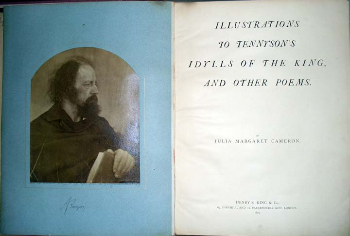 Julia Margaret Cameron (1815-1879), Illustrations to Tennyson's Idylls of the King, and other poems (London: Henry S. King, 1875). volume 1, 12 albumen silver prints. Graphic Arts Collection (GAX) Oversize 2007-0055F.