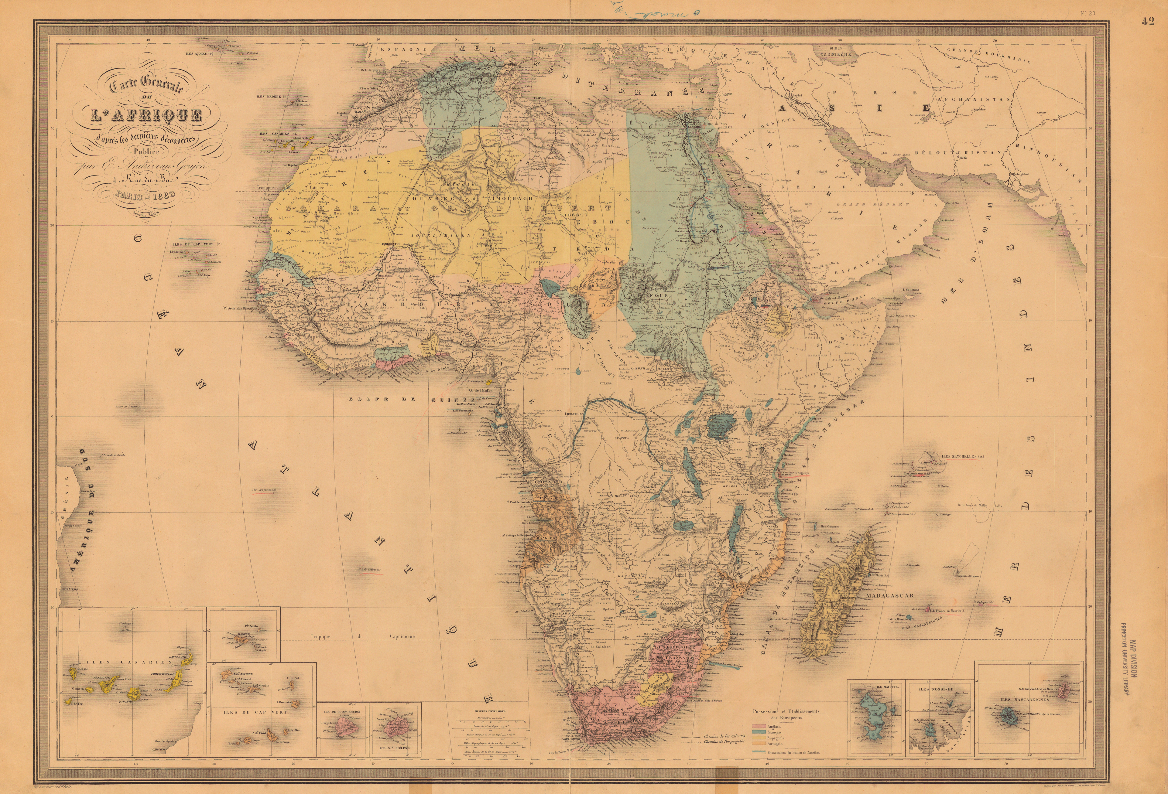 Map Of Africa 1850.Untitled Document