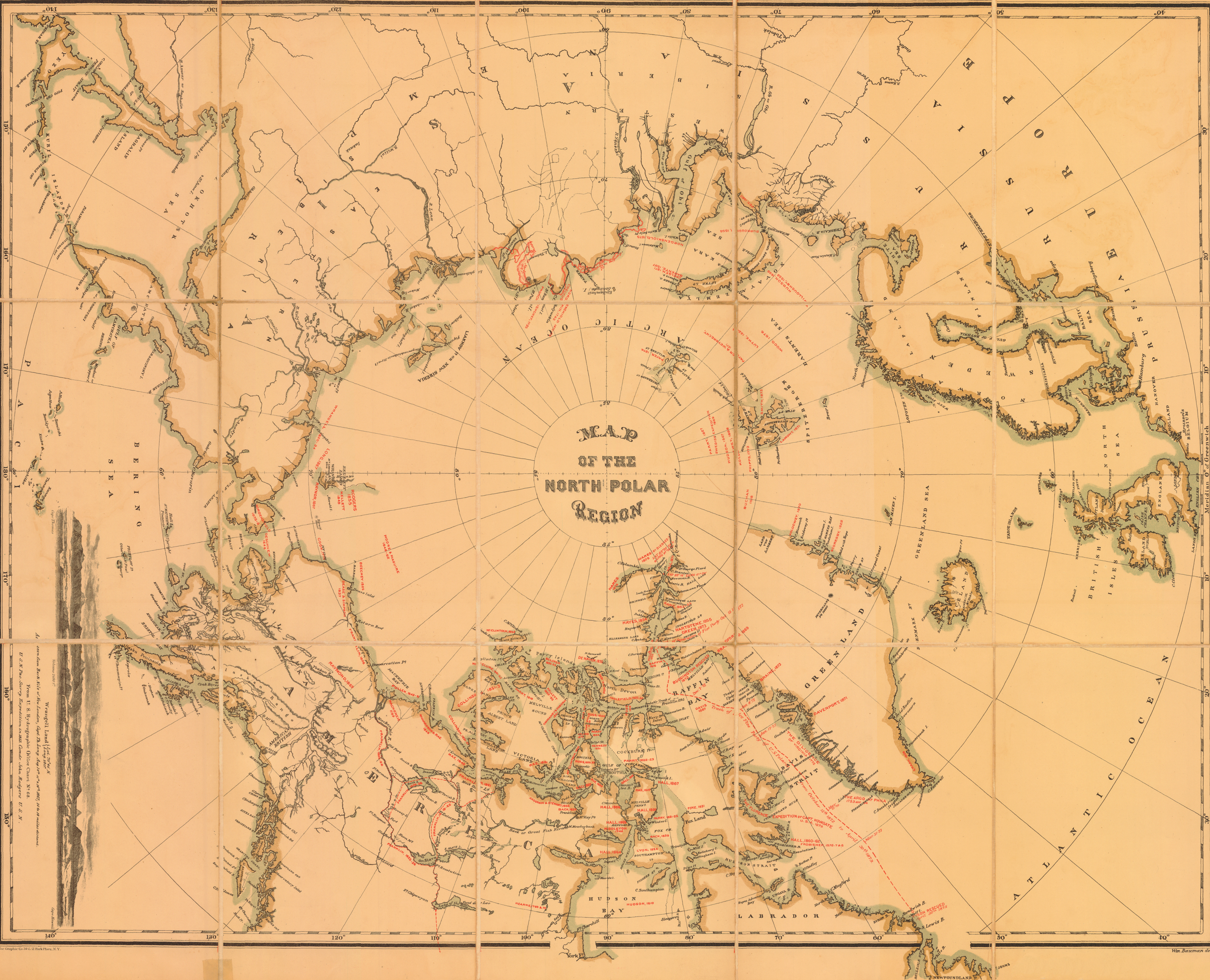 KABLOONAS THE ARCTIC GRAVEYARD AND OTHER ARCTIC MAPS - Arctic map