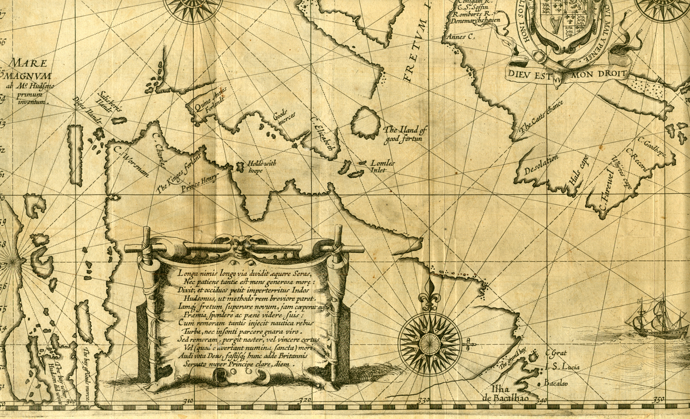 ... Hudson's discoveries in the northern part of America and the first map