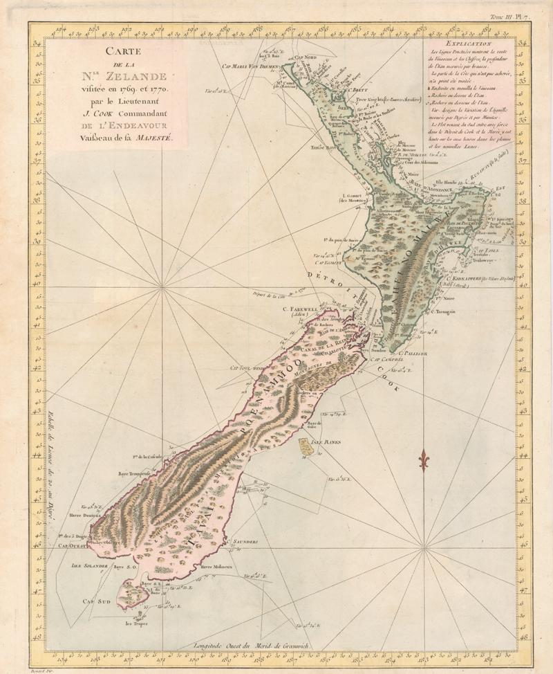 Old Fashioned Drawn Map