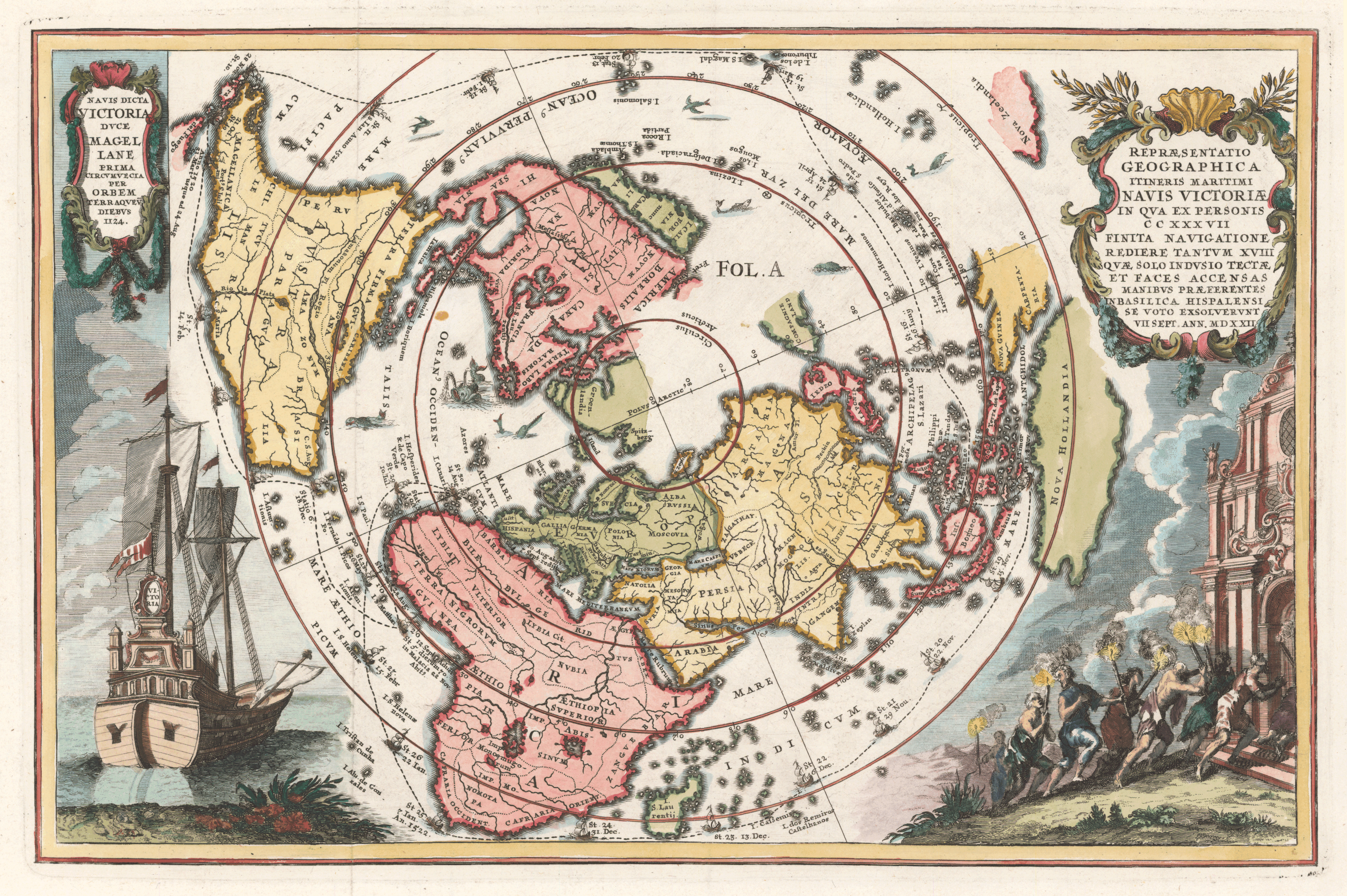 Oldest Known World Map.Ferdinand Magellan