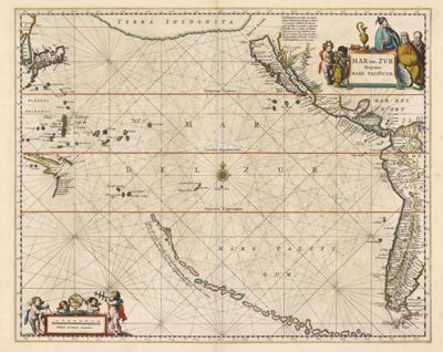 pacific ocean on map  ... hispanis mare pacificum