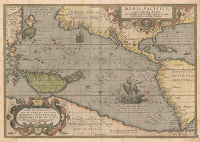 pacific ocean pictures  1589 ortelius abraham 1527