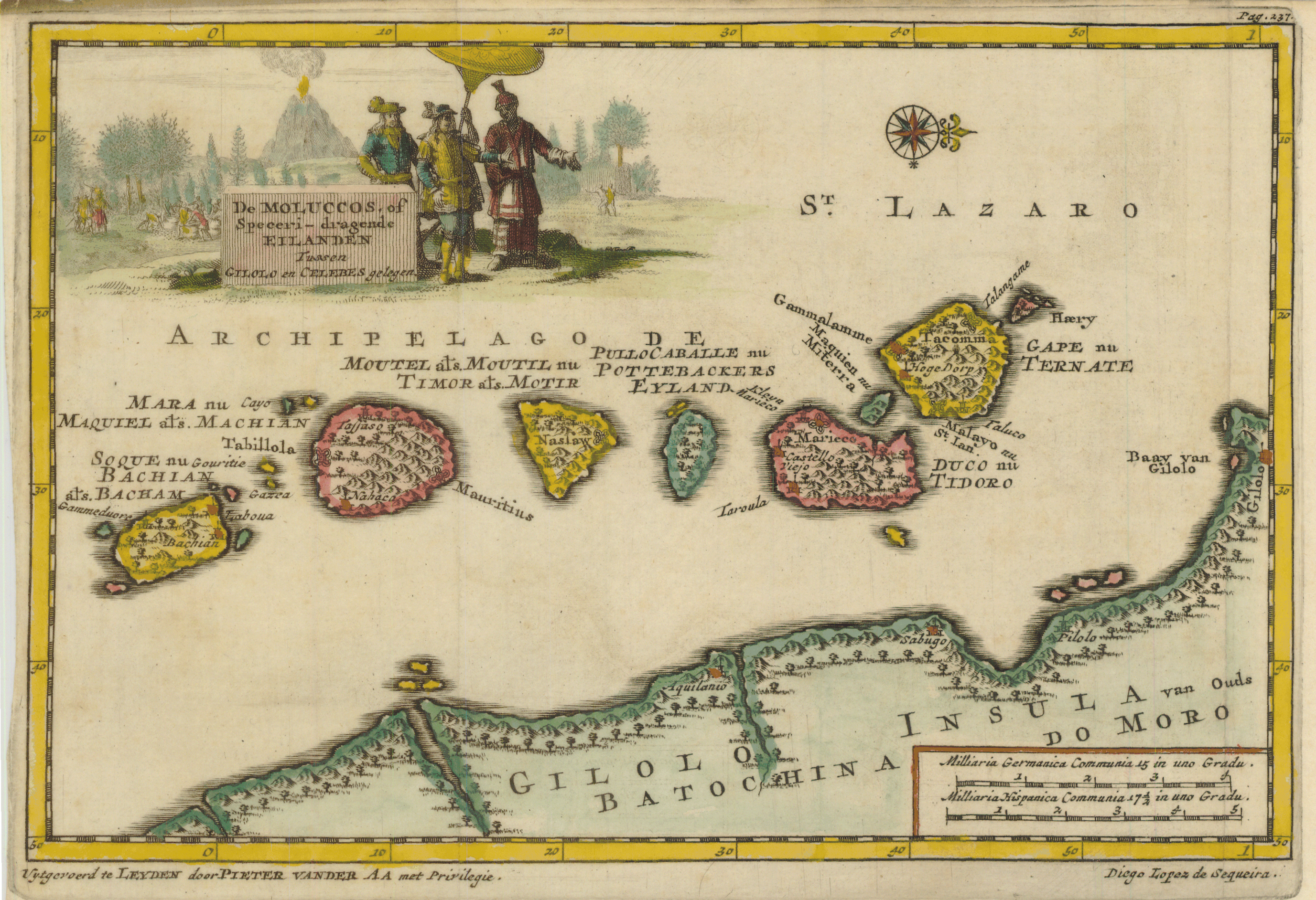 map moluccas aa 1707 Java Coffee History