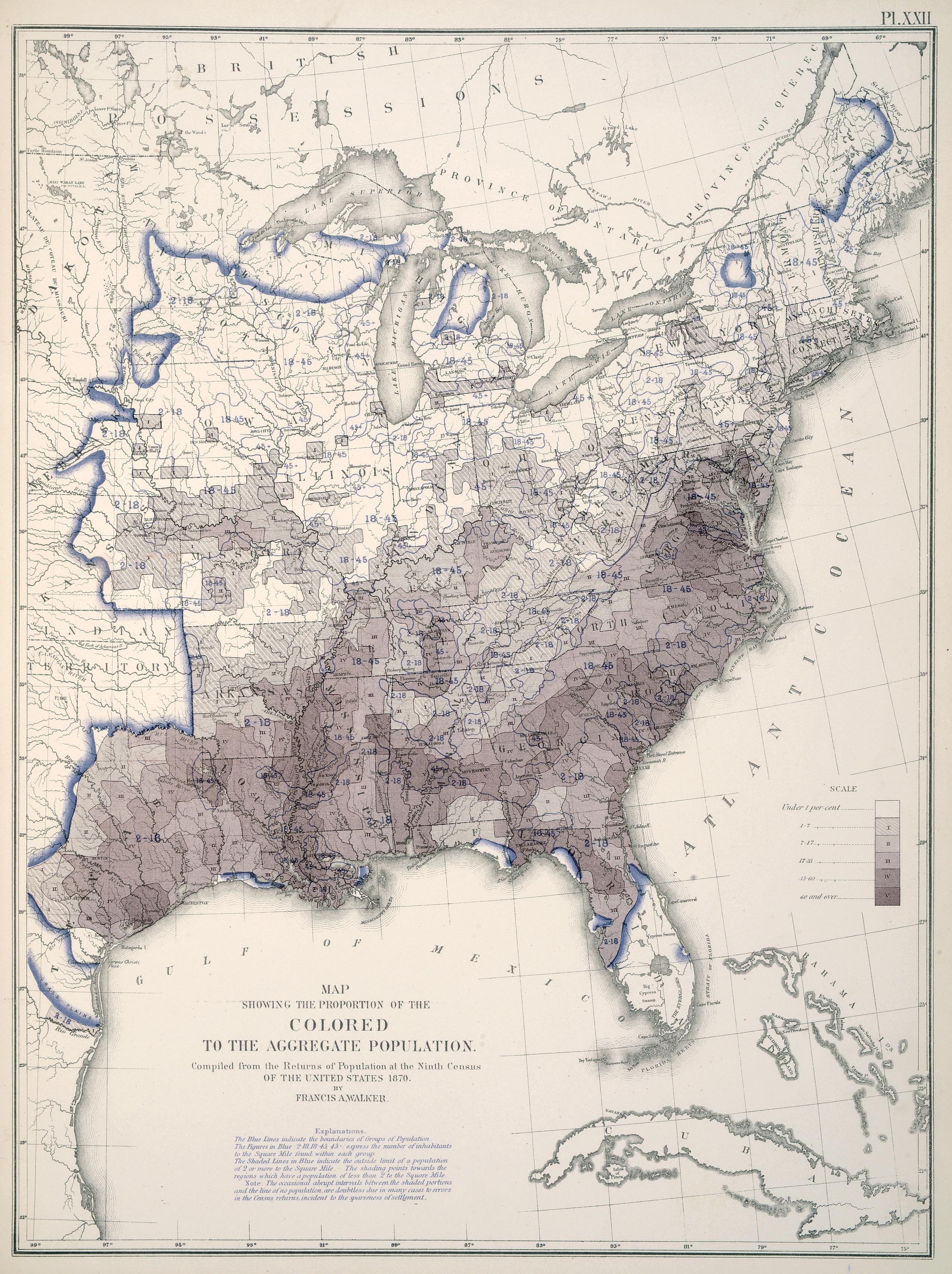 Landmark Thematic Atlases - 1830 census map us