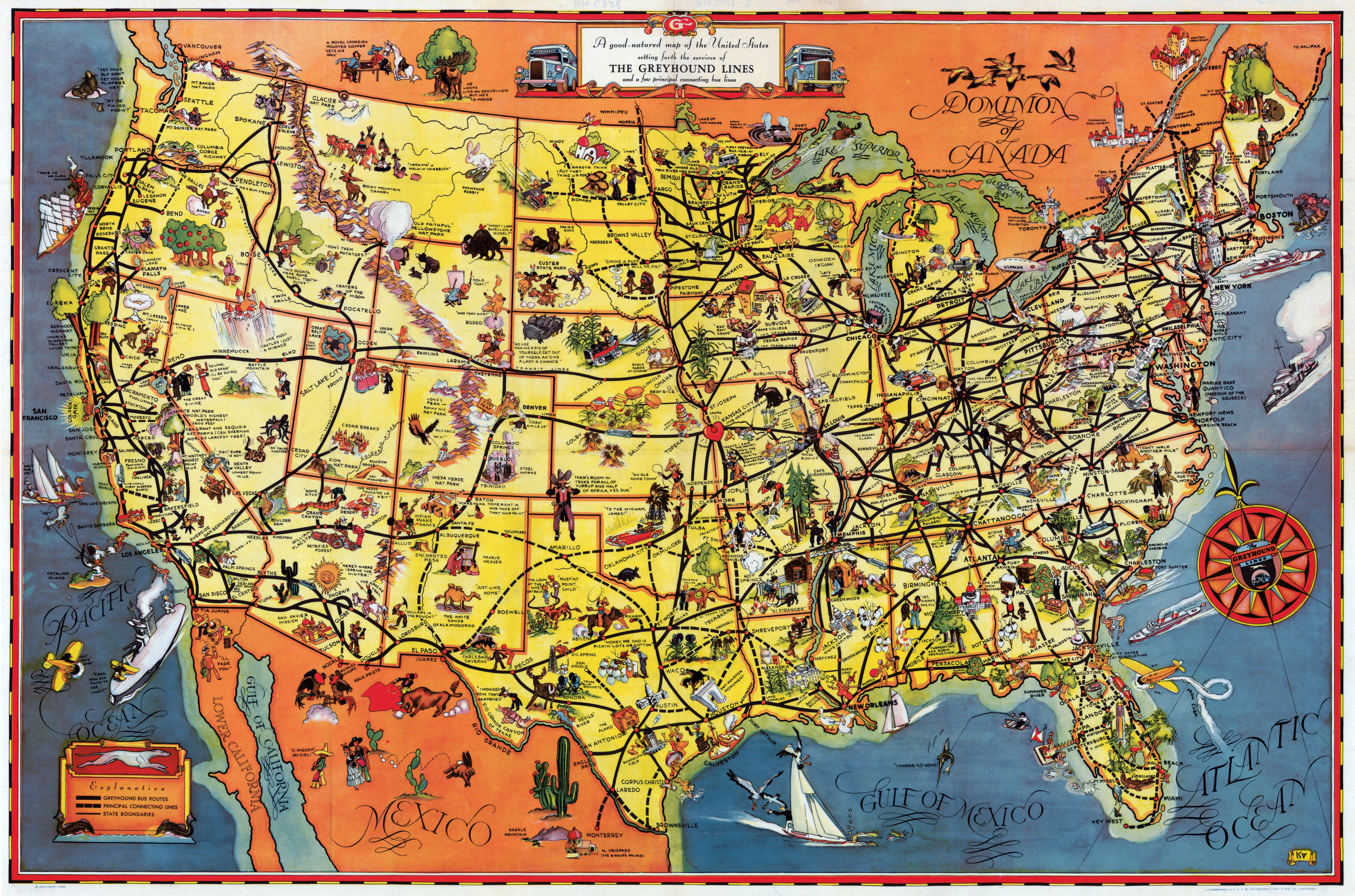 Yellowstone Map Of Attractions Iso Map Twra Maps United States - Us map with attractions
