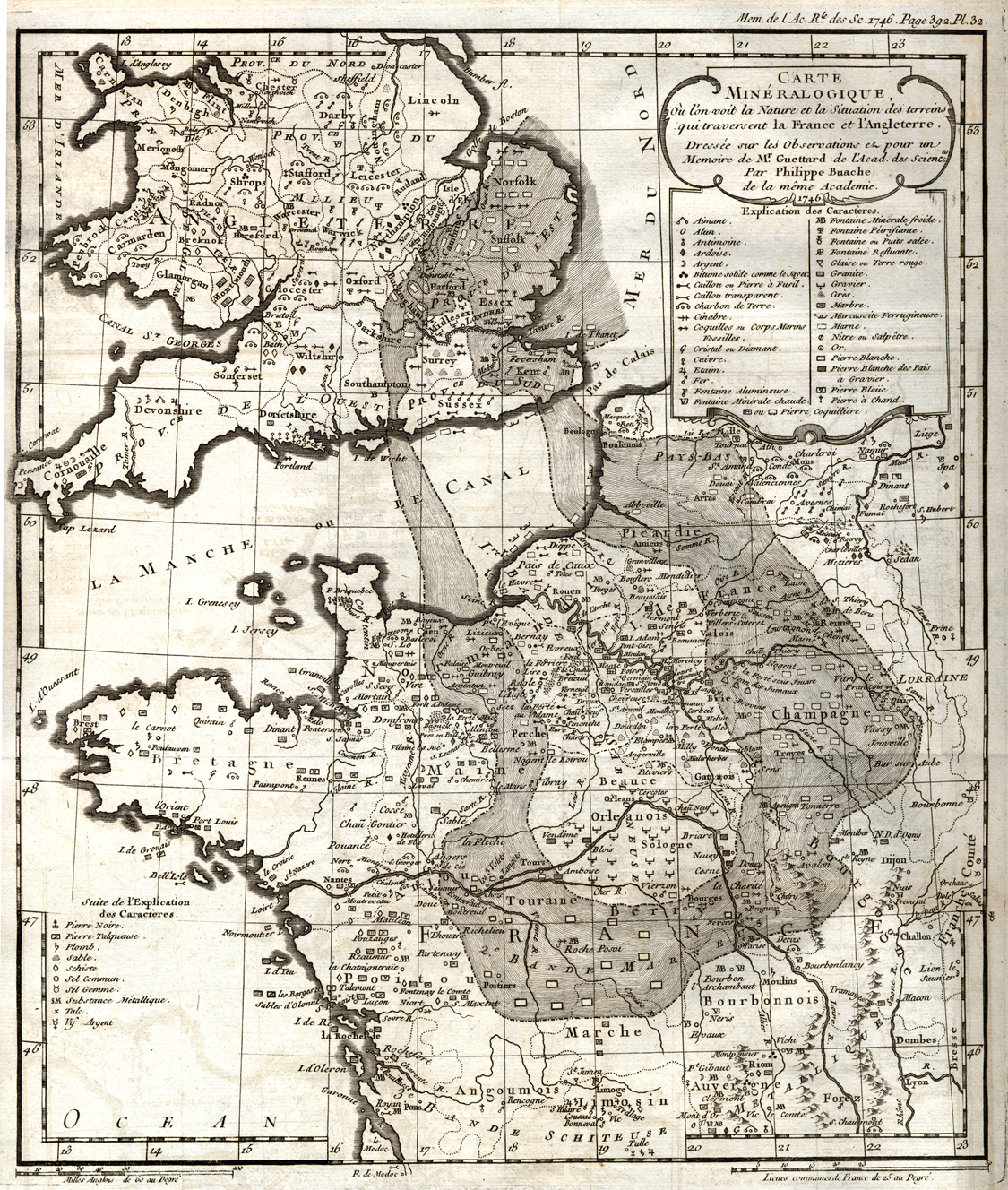 Map Of England France.Geology